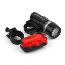 Waterproof Bike Bicycle Front Head Light + Safety Rear Flashlight